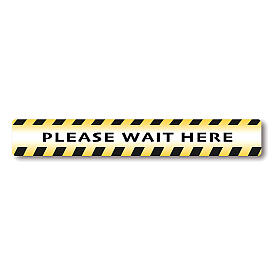 Removable stickers 2 PIECES - PLEASE WAIT HERE s1
