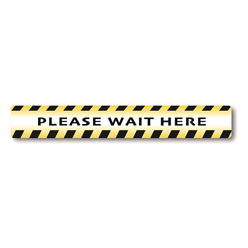 Removable stickers 2 PIECES - PLEASE WAIT HERE 1