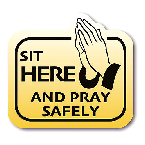 SIT HERE AND PRAY SAFELY removable stickers 8 pieces 1