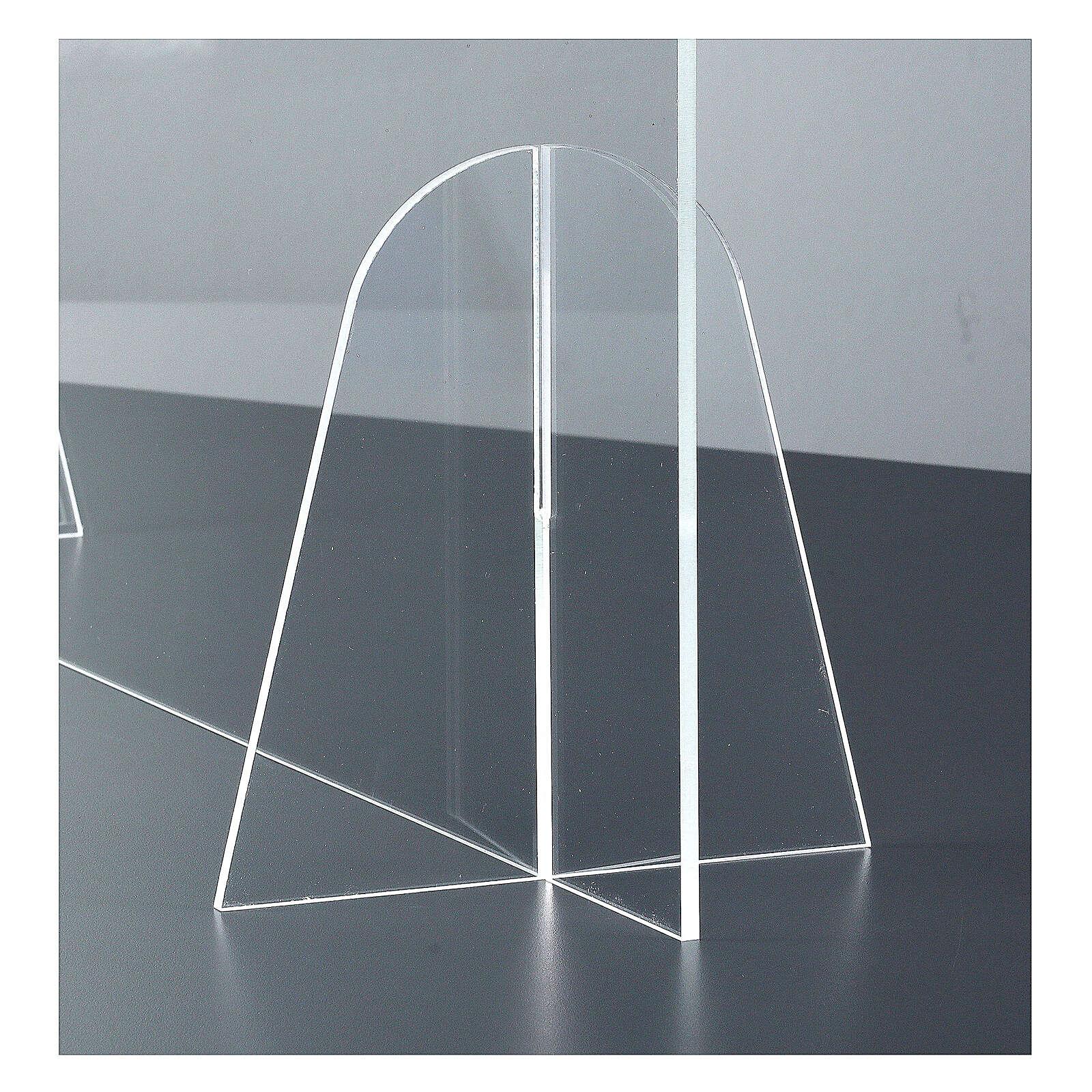 Parafiato protettivo in plexiglass da tavolo h.65x90 cm 3