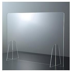 Parafiato protettivo in plexiglass da tavolo h.65x90 cm s1