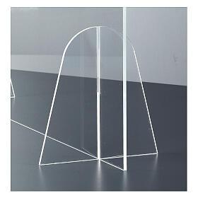 Parafiato protettivo in plexiglass da tavolo h.65x90 cm s4