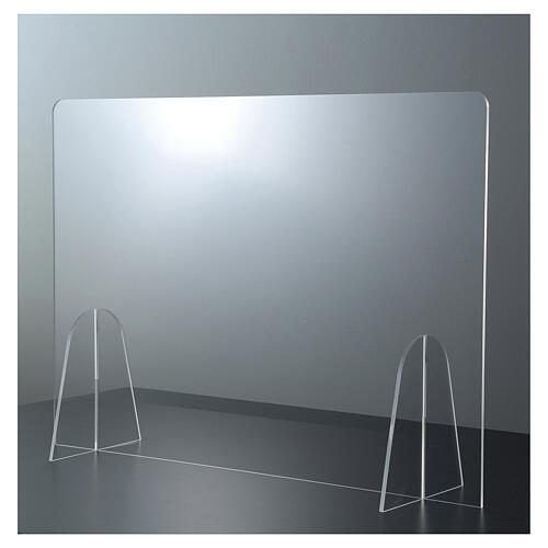 Parafiato protettivo in plexiglass da tavolo h.65x90 cm 1