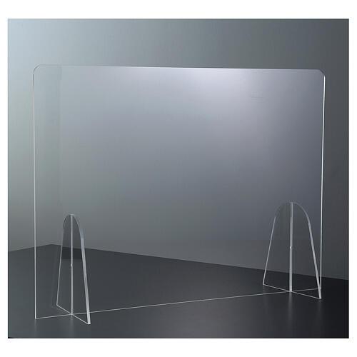 Parafiato protettivo in plexiglass da tavolo h.65x90 cm 2