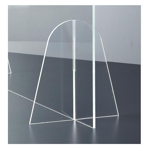 Parafiato protettivo in plexiglass da tavolo h.65x90 cm 4