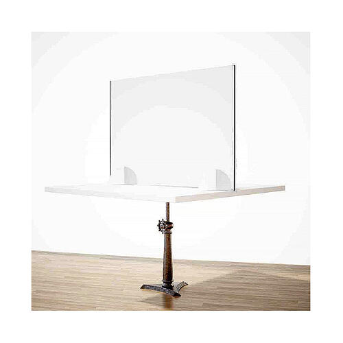 Parafiato da tavolo linea Wood h.65x90 cm plexiglass e legno 2