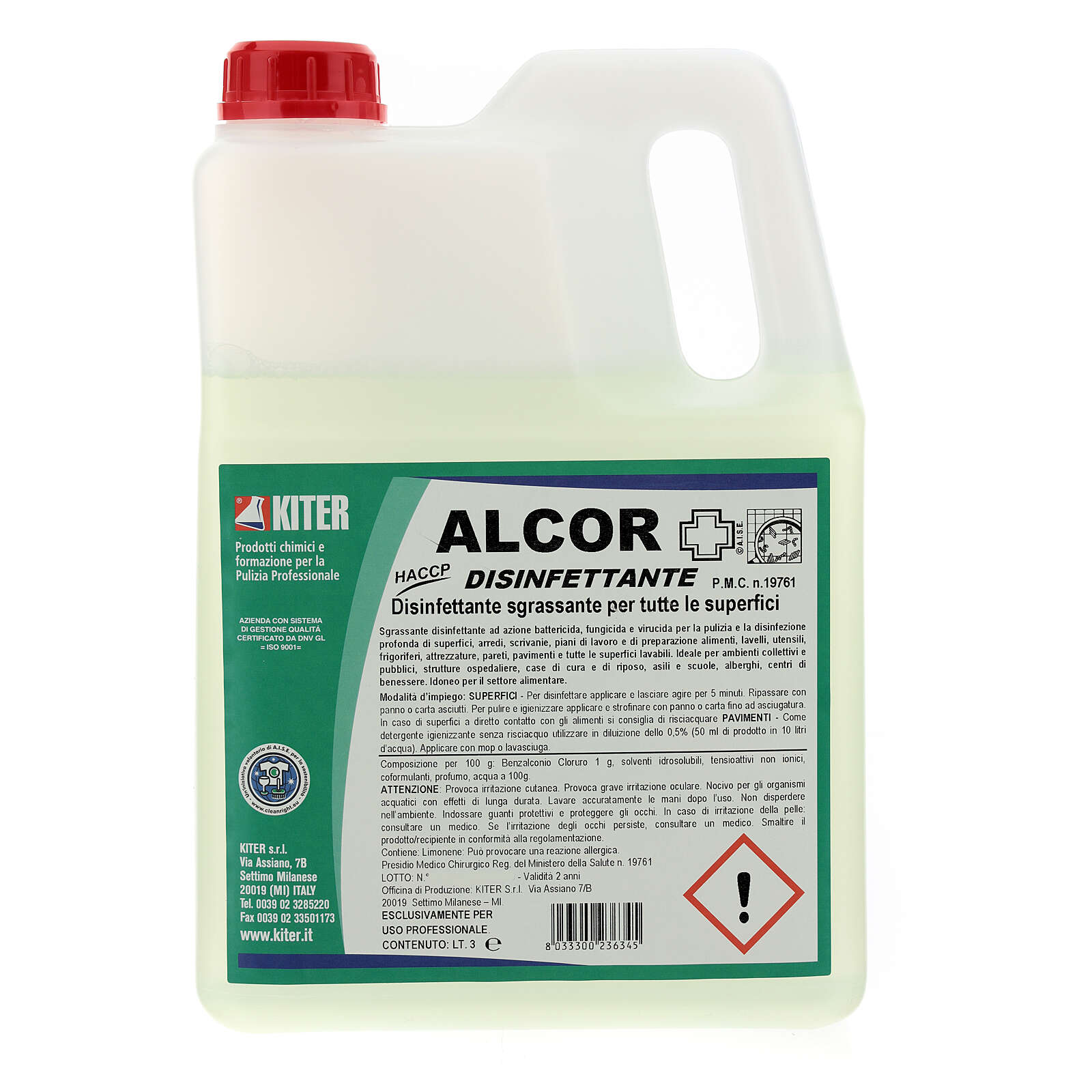 Alcor Disinfectant 3 liters, Refill 3