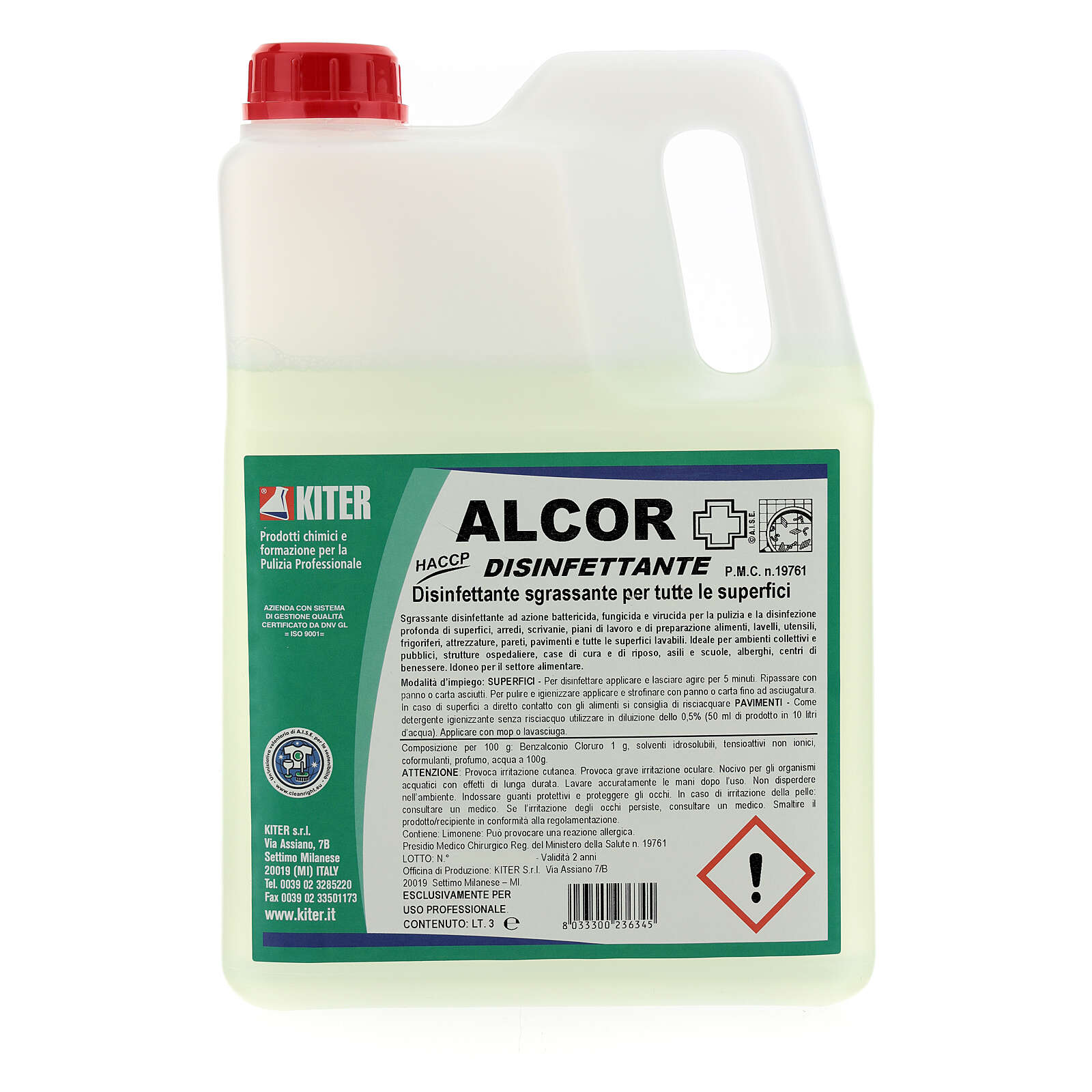 Disinfectant Alcor- 3 liters- Refill 3