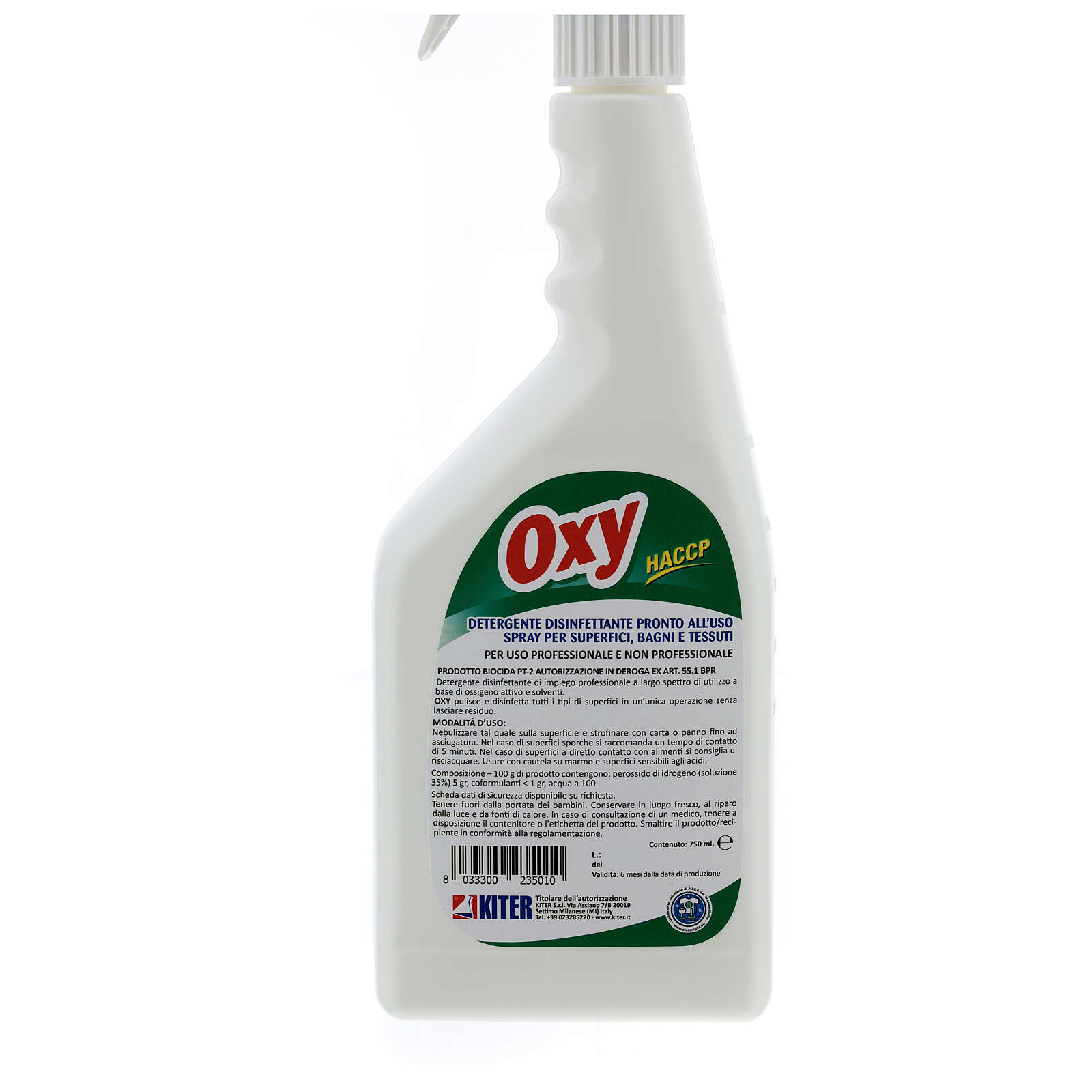 Disinfectant spray, Oxy Biocide 750 ml 3