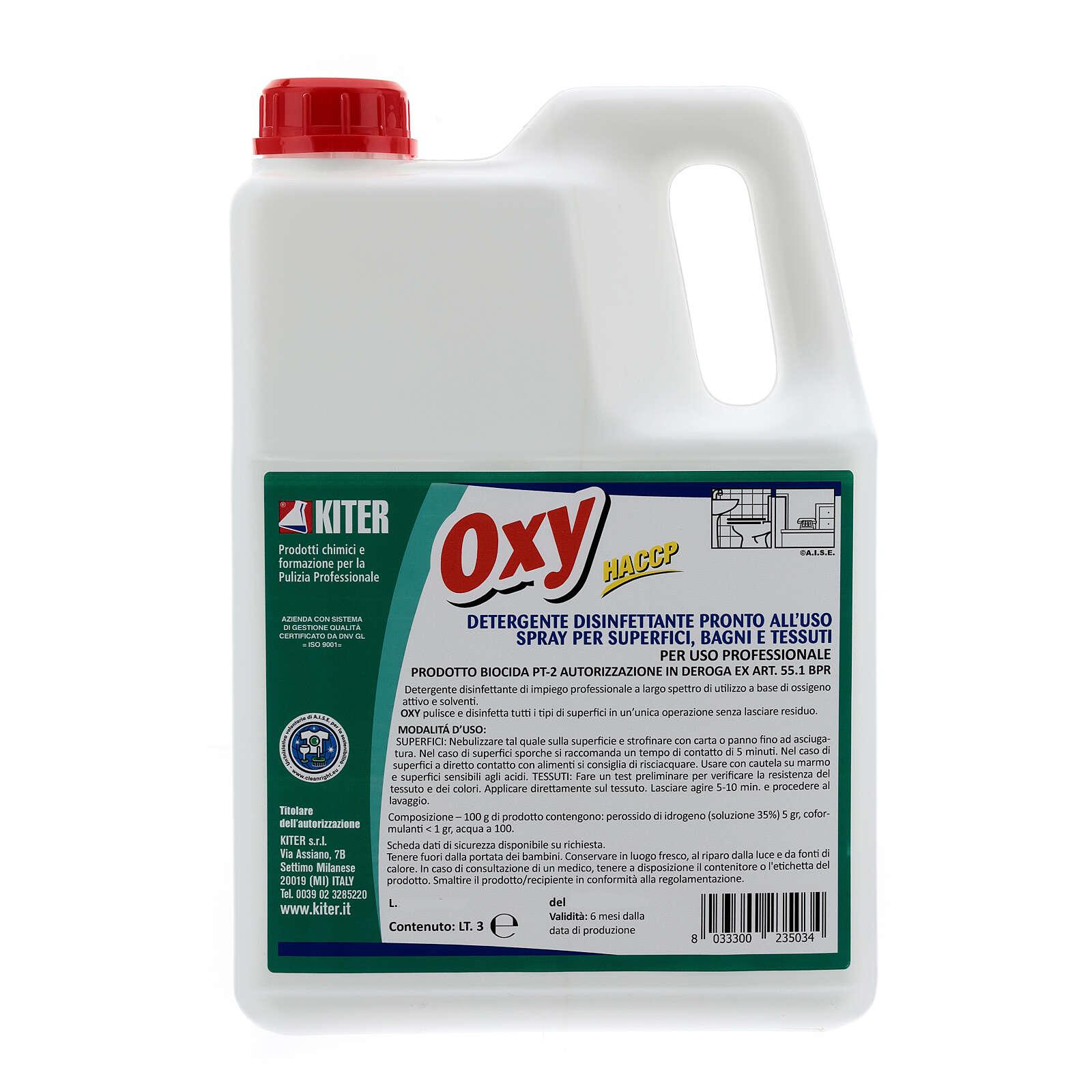 Disinfettante Oxy Biocida 3 Litri - Ricarica 3