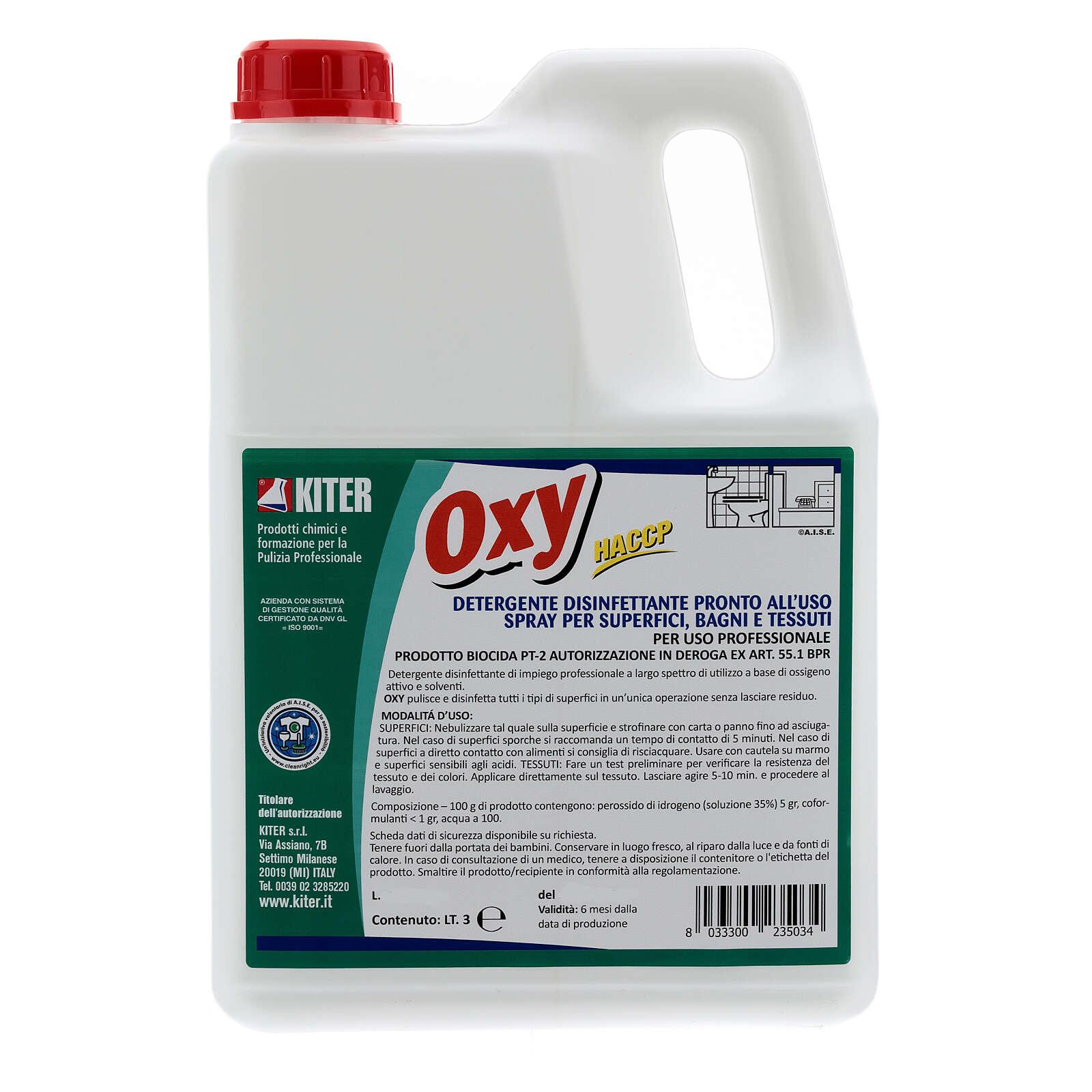 Desinfetante Oxy Biocida 3 litros - recarga 3
