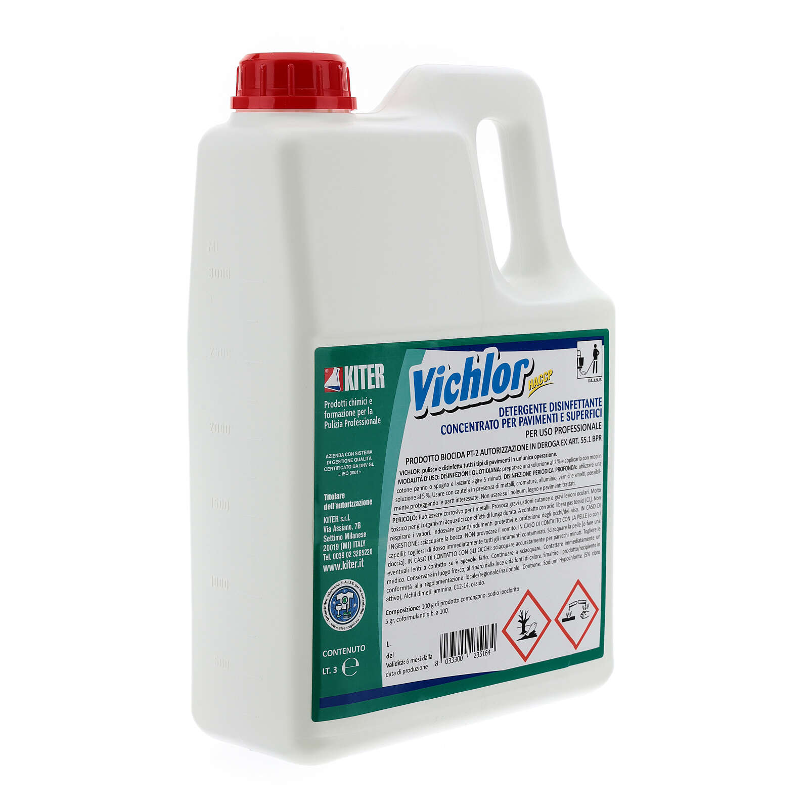 Desinfetante antibacteriano profissional Vichlor, galões de 3 litros 3