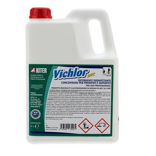 Desinfetante antibacteriano profissional Vichlor, galões de 3 litros 1