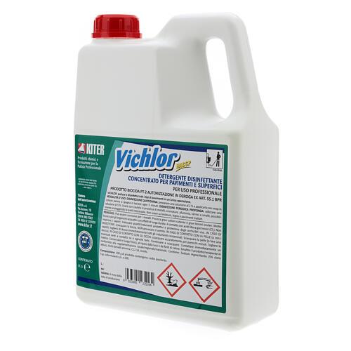 Desinfetante antibacteriano profissional Vichlor, galões de 3 litros 4
