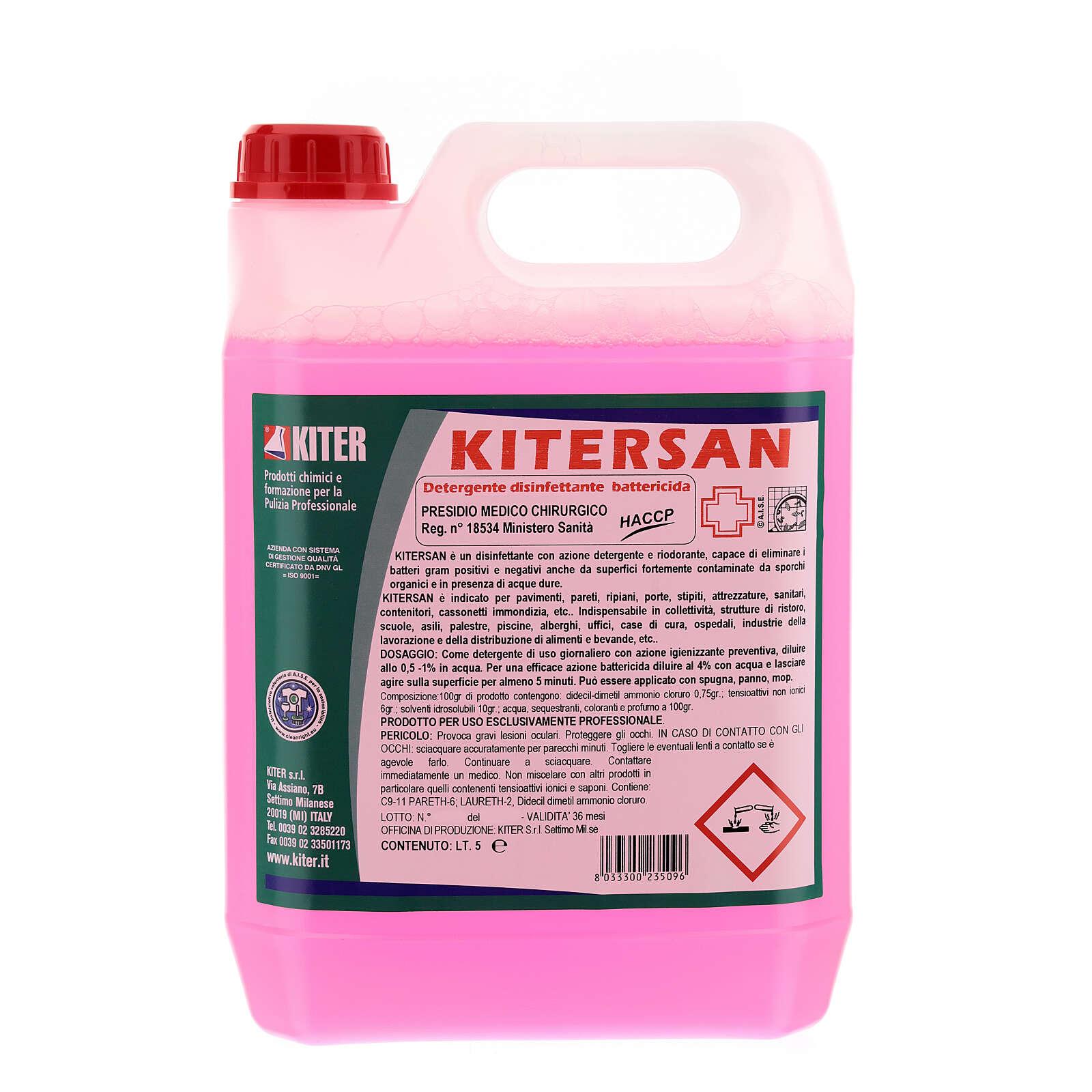Detergente desinfetante antibacteriano Kitersan, galões de 5 litros 3