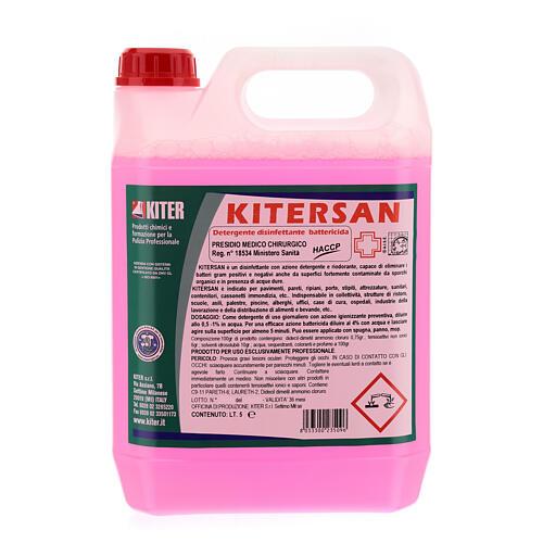 Detergente desinfetante antibacteriano Kitersan, galões de 5 litros 1