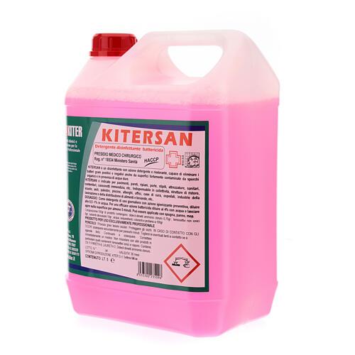 Detergente desinfetante antibacteriano Kitersan, galões de 5 litros 4