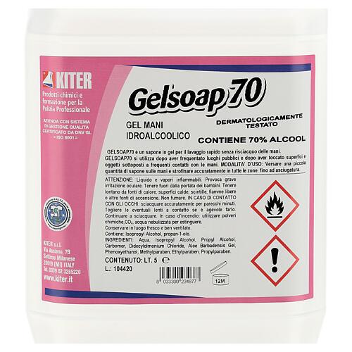 Desinfetante para mãos Gelsoap70, garrafas de 5 litros - Refill 2