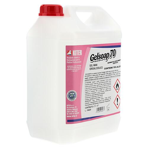 Desinfetante para mãos Gelsoap70, garrafas de 5 litros - Refill 3
