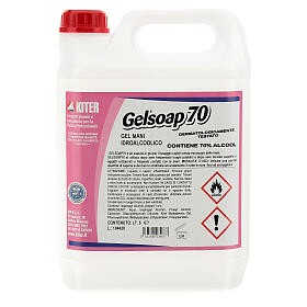 Hand sanitizer gel Gelsoap70 5 Liters- Refill s1