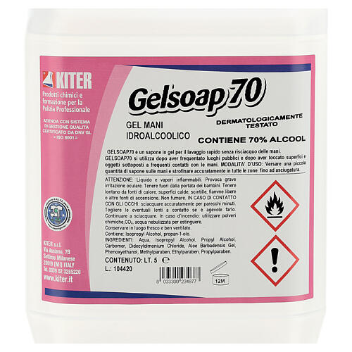 Hand sanitizer gel Gelsoap70 5 Liters- Refill 2