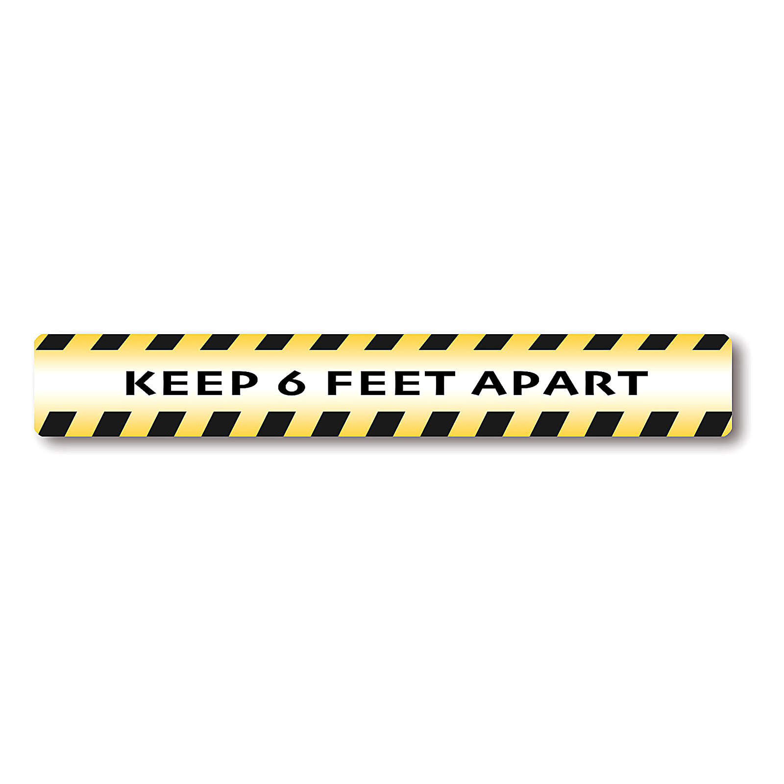 KEEP 6 FEET APART removable stickers 6 pieces 3