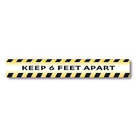 KEEP 6 FEET APART removable stickers 6 pieces s1