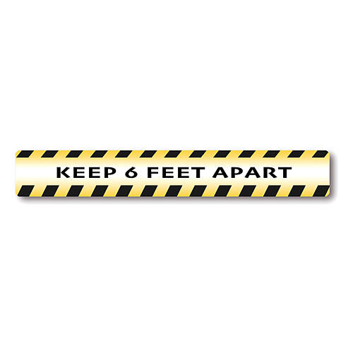 KEEP 6 FEET APART removable stickers 6 pieces 1