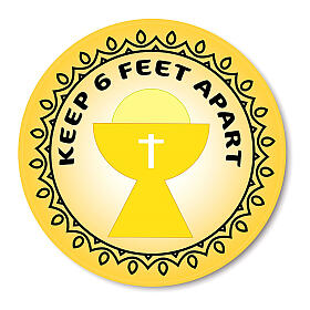 KEEP 6 FEET APART CHALICE removable stickers 6 pcs s1