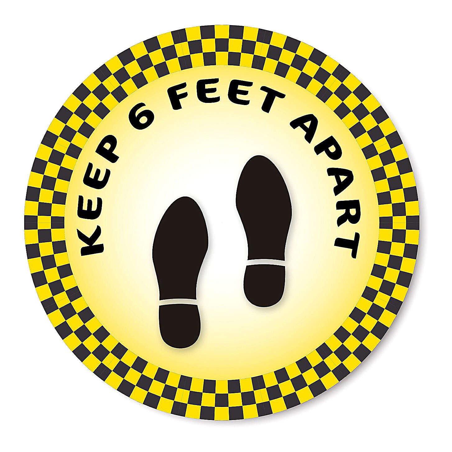 KEEP 6 FEET APART removable stickers 6 pieces 15 cm 3
