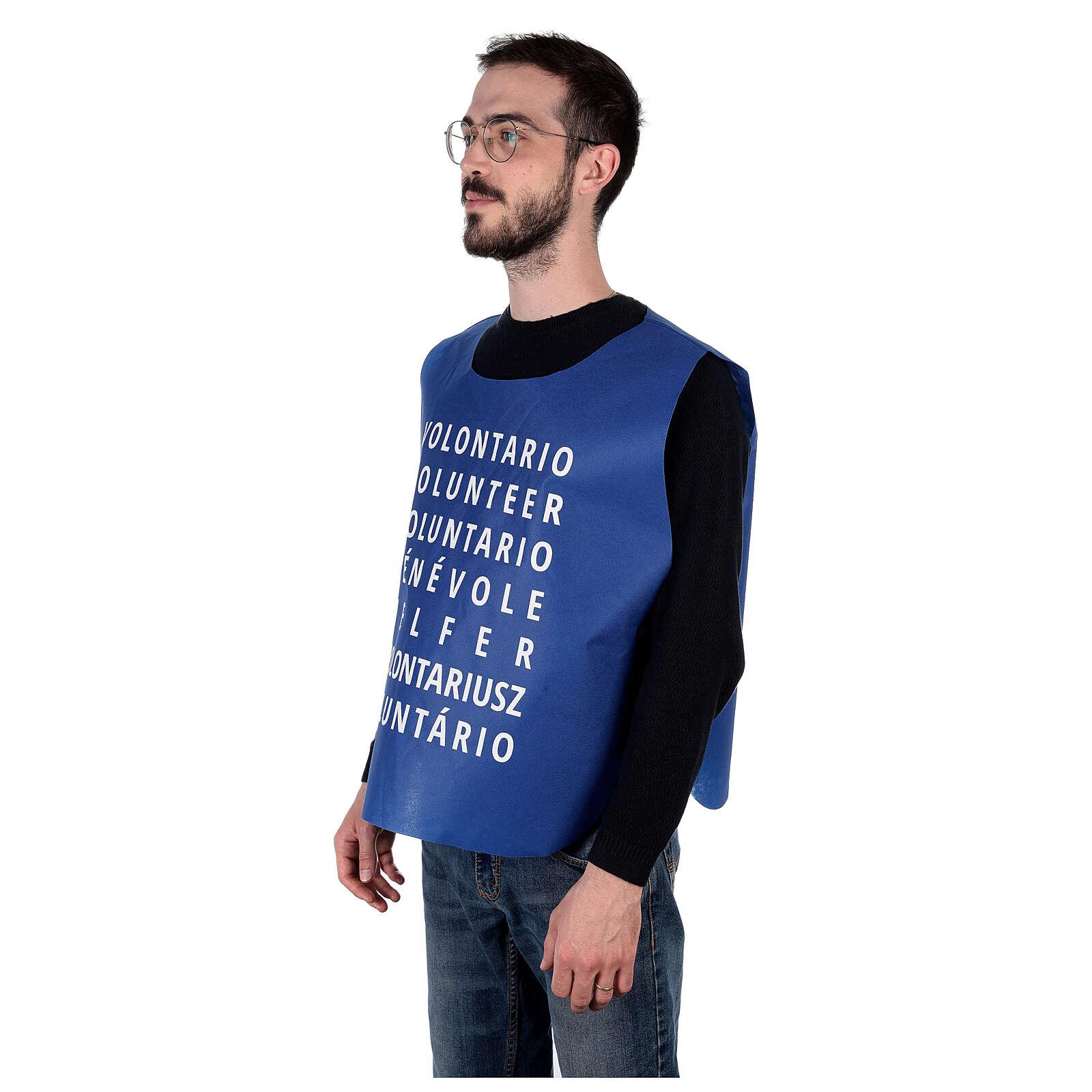 Unisex bib for parish volunteers in polyester fabric 3