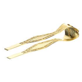 Pinzas hostias plata 925 filigrana motivo IHS 10 cm s3