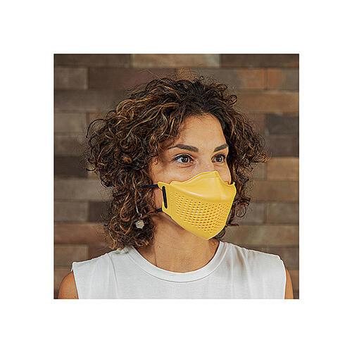 iMask2, Mund- und Nasenschutz, gelb 1
