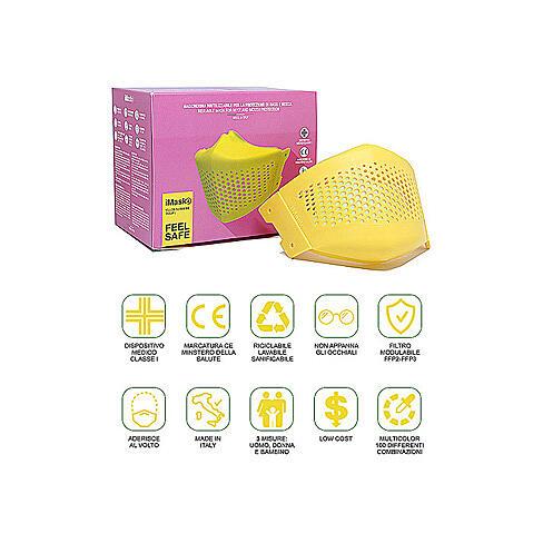 iMask2, Mund- und Nasenschutz, gelb 5