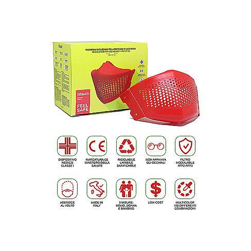 iMask2, Mund- und Nasenschutz, rot 5