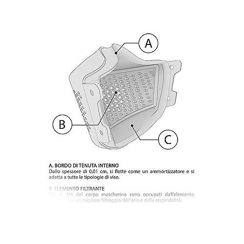 iMask2, Mund- und Nasenschutz, rot 8