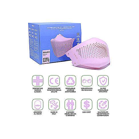 iMask2, Mund- und Nasenschutz, rosa 3