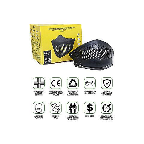 iMask2, Mund- und Nasenschutz, schwarz 5