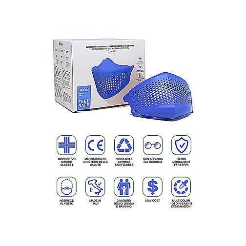 iMask2, Mund- und Nasenschutz, blau 3
