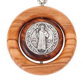 Portachiavi medaglia girevole san Benedetto