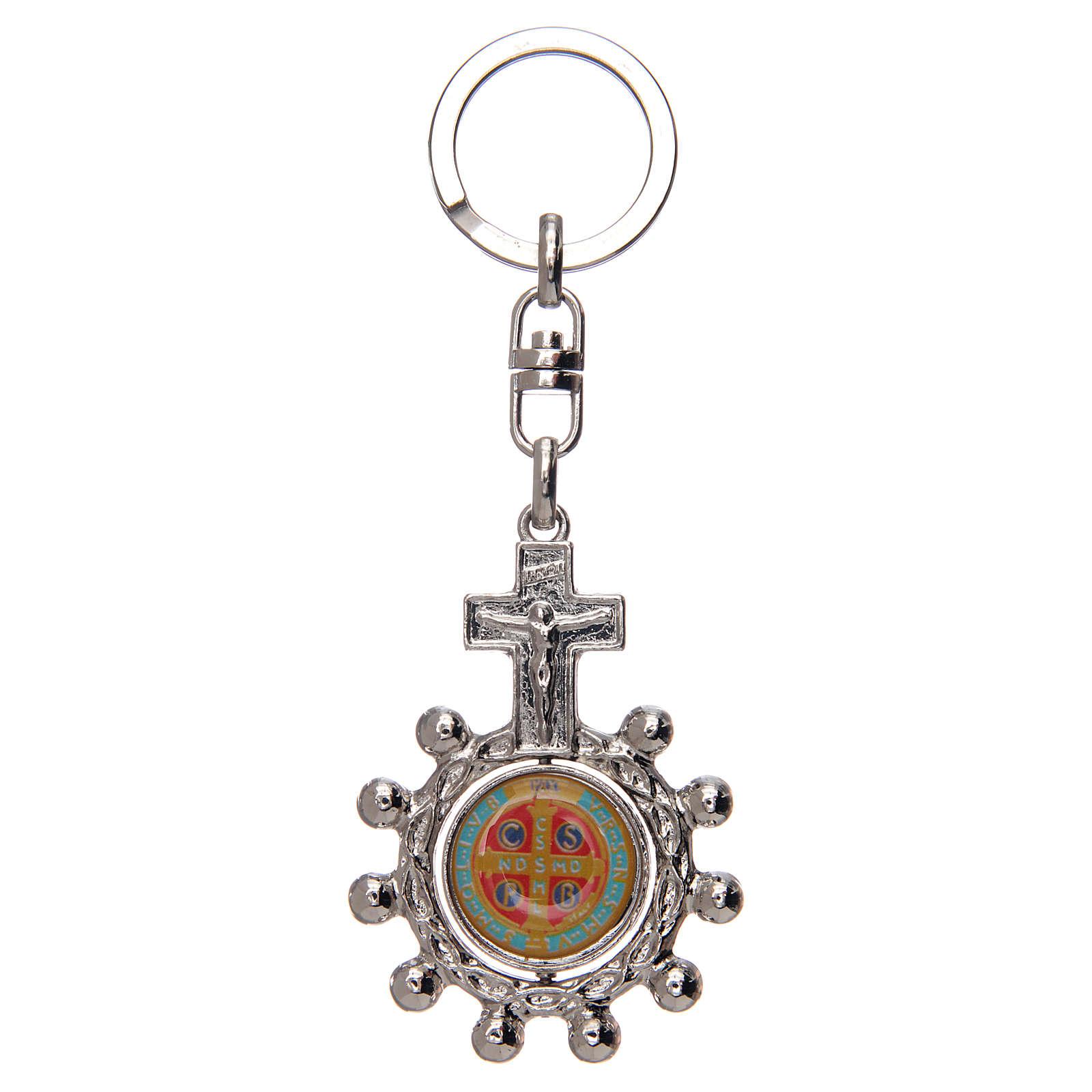 Portachiavi  girevole rosario decina san Benedetto 3