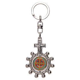 Portachiavi  girevole rosario decina san Benedetto s2