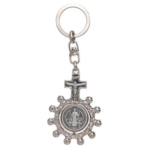 Porte-clé tournant, dizainier Saint Benoit 1