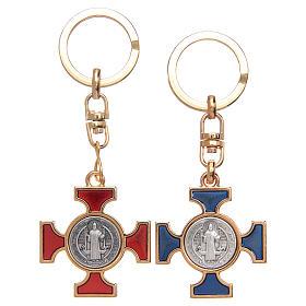 Porte-clé celtique en nickel doré St. Benoît s1