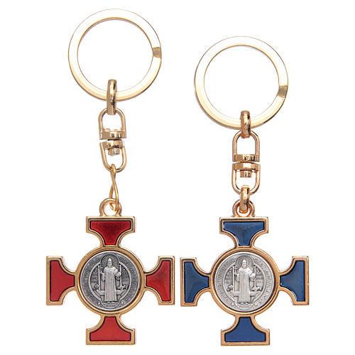 Porte-clé celtique en nickel doré St. Benoît 1