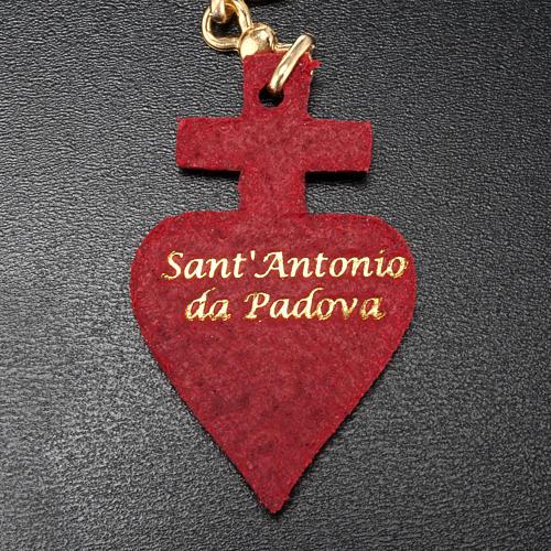 Llavero corazón cuero San Antonio 3
