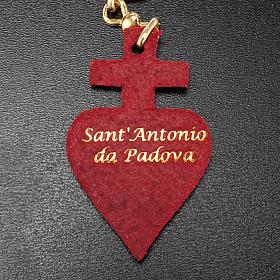 Portachiavi cuore Cristo cuoio S.Antonio Padova s3