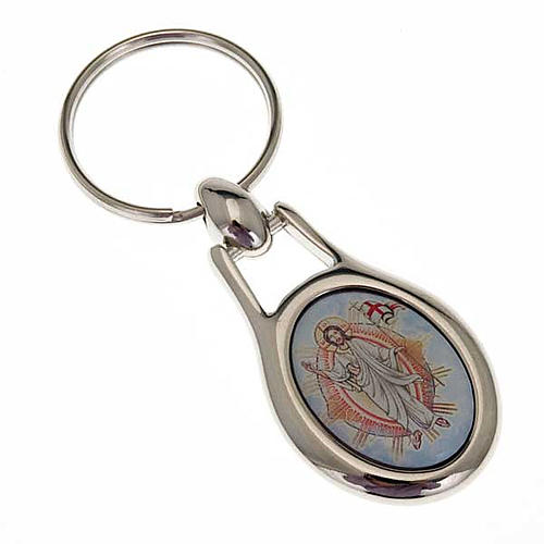 Porte-clefs Jésus Christ acier 1