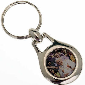 John Paul II key ring in stainless steel s1