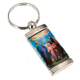 Keychain in metal image of Holy Family s1